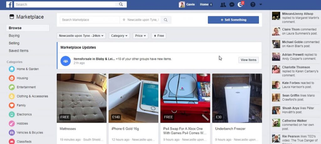 Facebook Marketplace is one of the best Craigslist alternatives