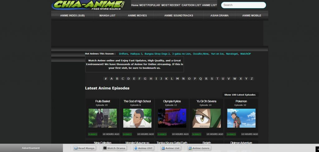 Chia-Anime is a popular anime streaming site
