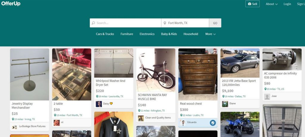 Sites like Craigslist - OfferUp