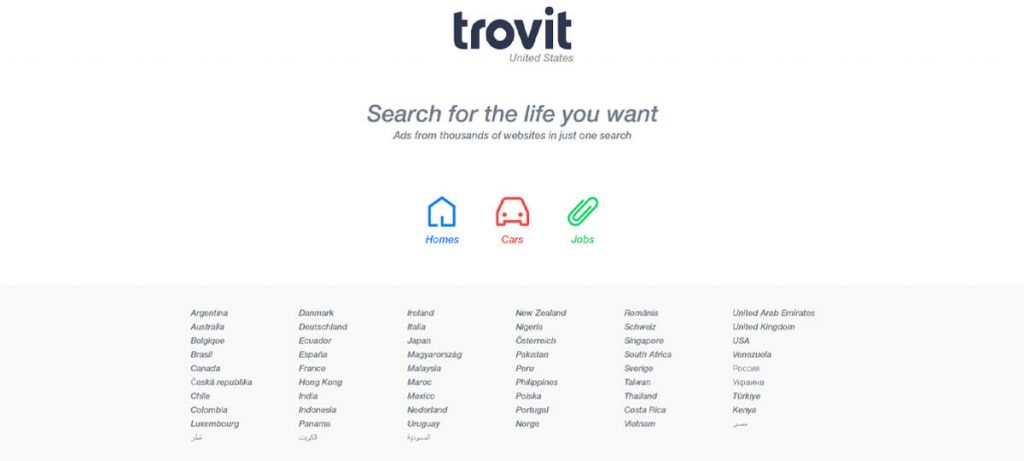 One of the best sites like Craigslist for homes, cars, and jobs is Trovit